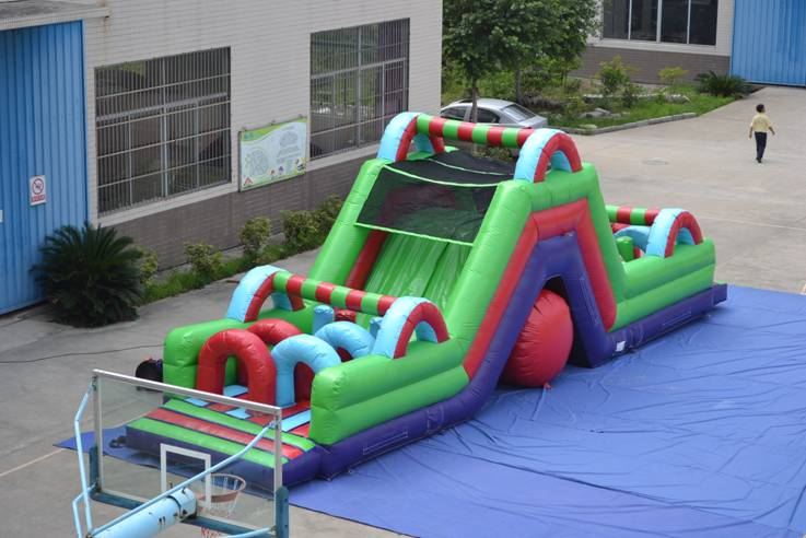 Giant inflatable assault course