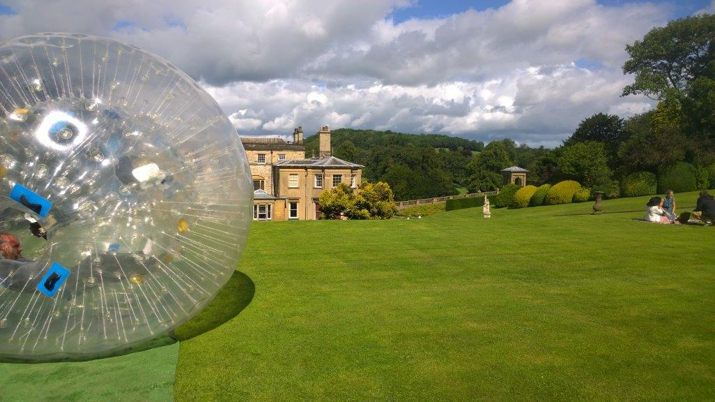 Zorbing on the estate